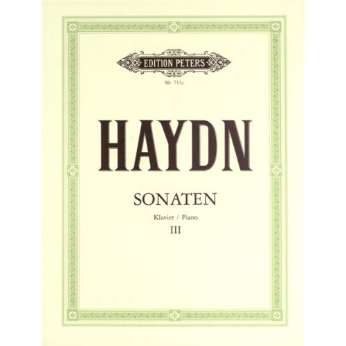 EDITION PETERS HAYDN JOSEPH - SONATAS VOL.3 - PIANO