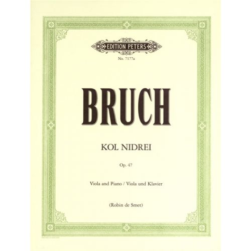 EDITION PETERS BRUCH MAX - KOL NIDREI OP.47 - VIOLA AND PIANO
