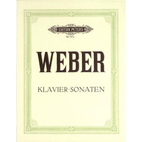 EDITION PETERS WEBER CARL MARIA VON - COMPLETE PIANO WORKS VOL.1: SONATAS - PIANO