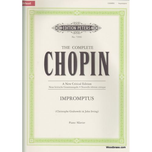 EDITION PETERS CHOPIN F. - IMPROMPTUS - PIANO
