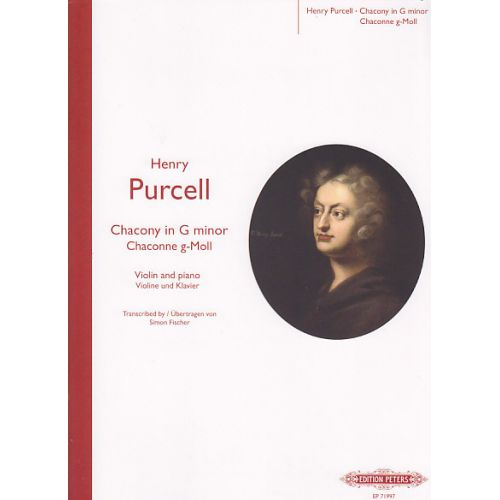 EDITION PETERS PURCELL H. - CHACONY - VIOLON ET PIANO