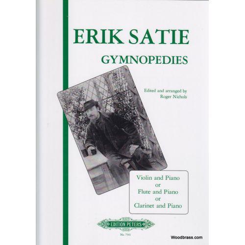 EDITION PETERS SATIE ERIC - 3 GYMNOPÉDIES - VIOLIN AND PIANO