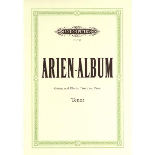 EDITION PETERS ARIA ALBUM FOR TENO - VOICE AND PIANO (PAR 10 MINIMUM)