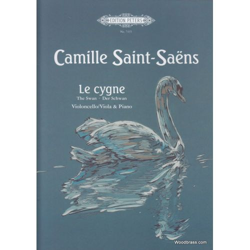 EDITION PETERS SAINT-SAENS CAMILLE - LE CYGNE - CELLO AND PIANO
