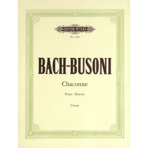 EDITION PETERS BACH/BUSONI - CHACONNE IN D MINOR - PIANO