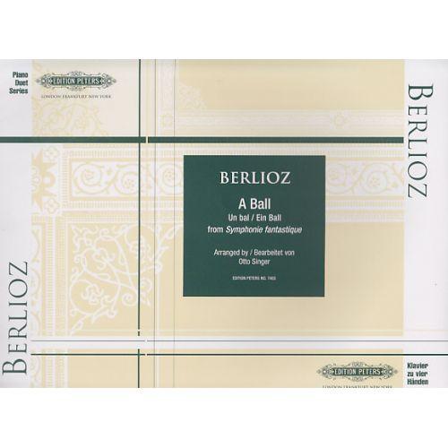 EDITION PETERS BERLIOZ H. - AT A BALL - PIANO 4 MAINS