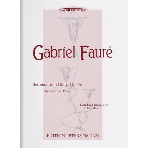 EDITION PETERS FAURE G. - BERCEUSE - VIOLON ET PIANO