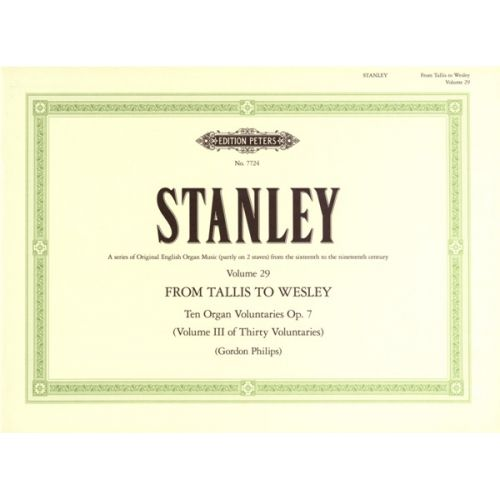 EDITION PETERS STANLEY JOHN - 10 VOLUNTARIES OP.7 - ORGAN