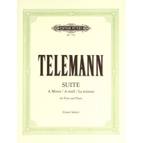 EDITION PETERS TELEMANN GEORG PHILIPP - SUITE IN A MINOR - FLUTE AND PIANO