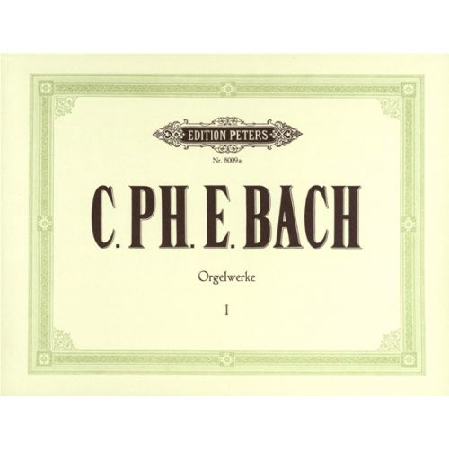 EDITION PETERS BACH CARL PHILIPP EMANUEL - 6 KEYBOARD SONATAS - ORGAN OR PIANO