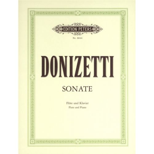 EDITION PETERS DONIZETTI GAETANO - FLUTE SONATA IN C