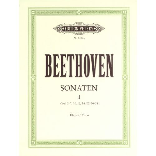 EDITION PETERS BEETHOVEN LUDWIG VAN - SONATAS VOL.1 - PIANO