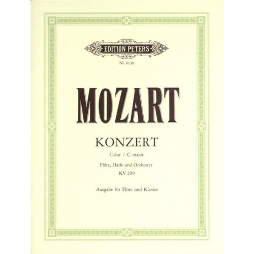 EDITION PETERS MOZART WOLFGANG AMADEUS - CONCERTO IN C FOR FLUTE, HARP AND ORCHESTRA K.299 - FLUTE AND PIANO