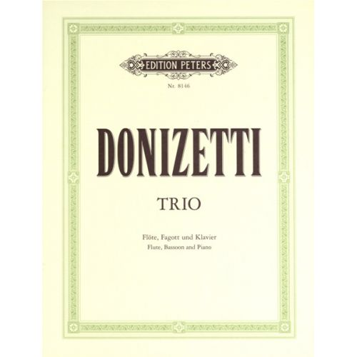 EDITION PETERS DONIZETTI GAETANO - TRIO IN F - FLUTE(S) AND OTHER INSTRUMENTS