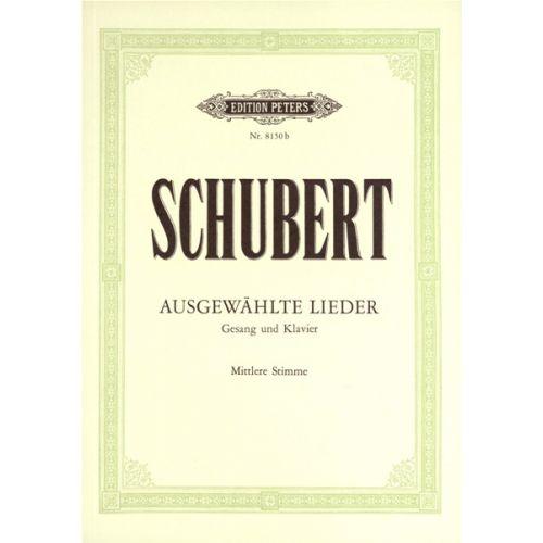 EDITION PETERS SCHUBERT FRANZ - 30 SONGS - VOICE AND PIANO (PAR 10 MINIMUM)