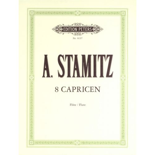 EDITION PETERS STAMITZ - 8 CAPRICES - FLUTE