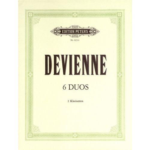 EDITION PETERS DEVIENNE FRANÇOIS - 6 DUOS OP.74 - CLARINET ENSEMBLE