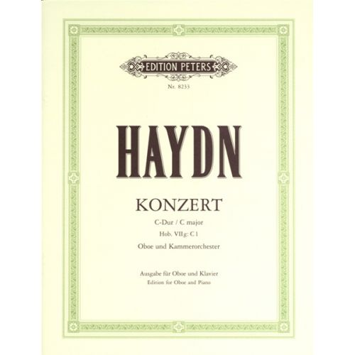 EDITION PETERS HAYDN JOSEPH - OBOE CONCERTO IN C HOB.VIIG:C1 - OBOE AND PIANO