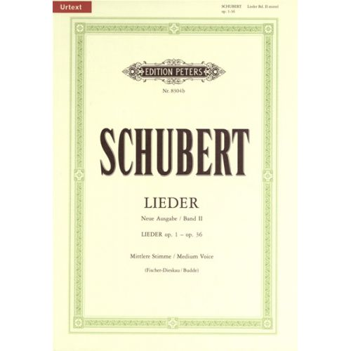 EDITION PETERS SCHUBERT FRANZ - SONGS VOL 2 - VOICE AND PIANO (PER 10 MINIMUM)