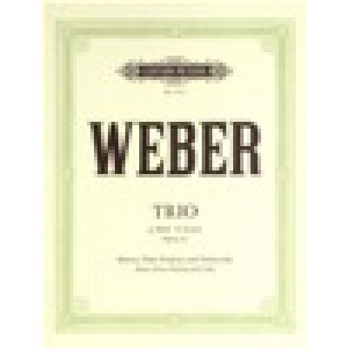 EDITION PETERS WEBER CARL MARIA VON - VARIATIONEN - VIOLA AND PIANO
