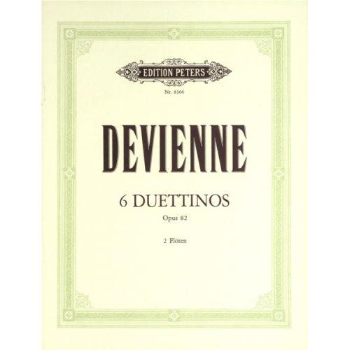EDITION PETERS DEVIENNE FRANÇOIS - 6 DUETTINOS OP.82 - FLUTE ENSEMBLE
