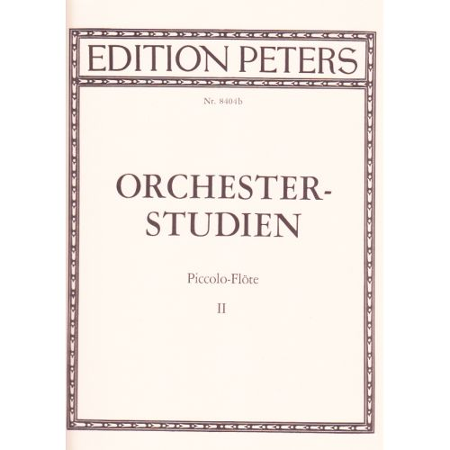 EDITION PETERS ORCHESTRAL STUDIES FOR PICCOLO VOL.2