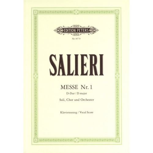 EDITION PETERS SALIERI ANTONIO - MASS NO.1 IN D 'HOFKAPELLMEISTER-MESSE' - MIXED CHOIR (PAR 10 MINIMUM)