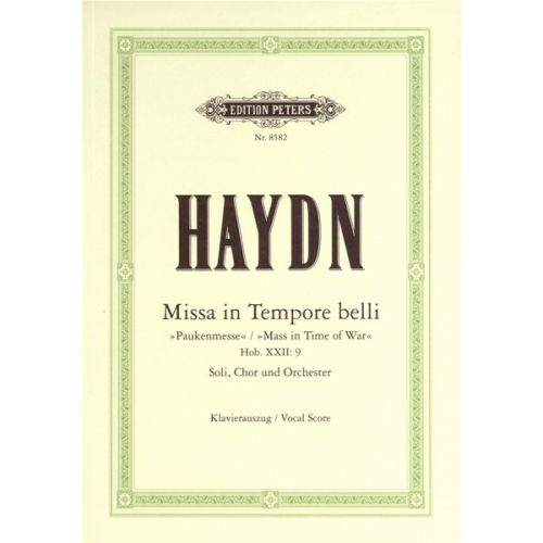 EDITION PETERS HAYDN JOSEPH - MASS IN C 'PAUKENMESSE' HOB.XXII/9 - MIXED CHOIR (PER 10 MINIMUM)
