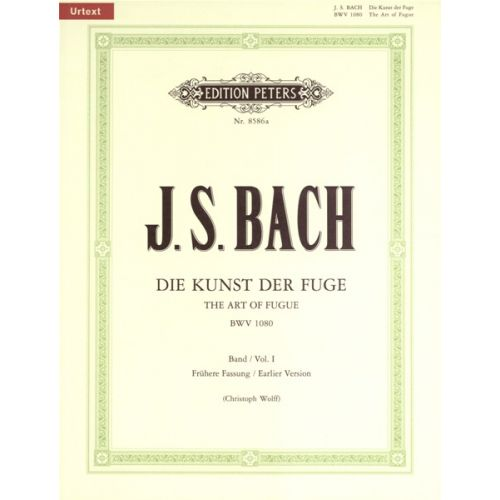 EDITION PETERS BACH JOHANN SEBASTIAN - THE ART OF FUGUE BWV 1080 VOL.1 - PIANO