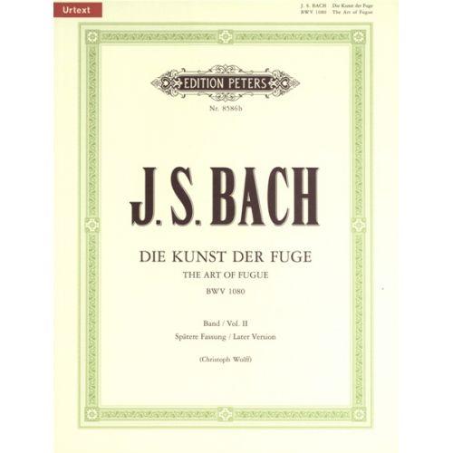 EDITION PETERS BACH JOHANN SEBASTIAN - THE ART OF FUGUE BWV 1080 VOL.2 - PIANO