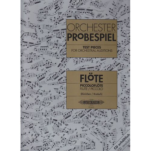 EDITION PETERS TRAITS D'ORCHESTRE - FLUTE