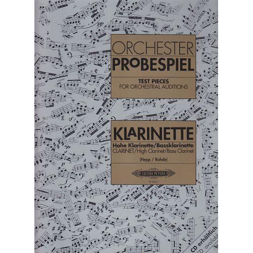 EDITION PETERS ORCHESTERPROBESPIEL - CLARINETTE