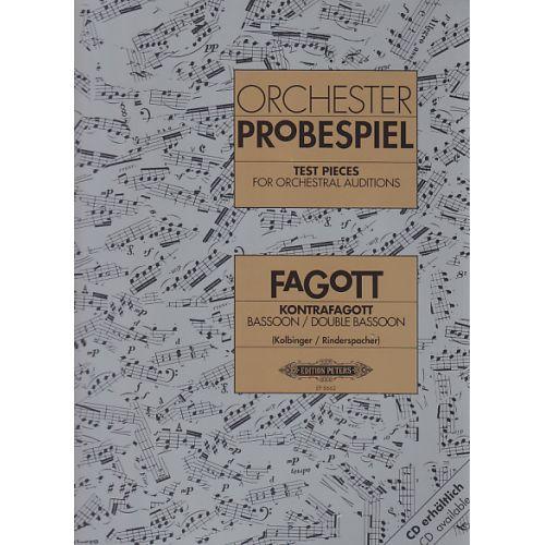 EDITION PETERS ORCHESTER PROBESPIEL - FAGOTT