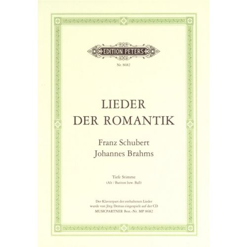 EDITION PETERS SELECTED LIEDER BY SCHUBERT & BRAHMS - VOICE AND PIANO (PER 10 MINIMUM)