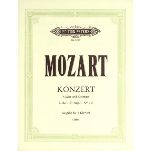 EDITION PETERS MOZART WOLFGANG AMADEUS - CONCERTO NO.6 IN B FLAT K238 - PIANO 4 HANDS