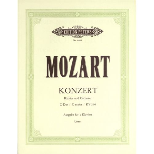 EDITION PETERS MOZART WOLFGANG AMADEUS - CONCERTO NO.8 IN C K246 - PIANO 4 HANDS