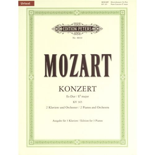 EDITION PETERS MOZART WOLFGANG AMADEUS - CONCERTO NO.10 IN E FLAT FOR 2 PIANOS K365 - PIANO (MULTIPLE)