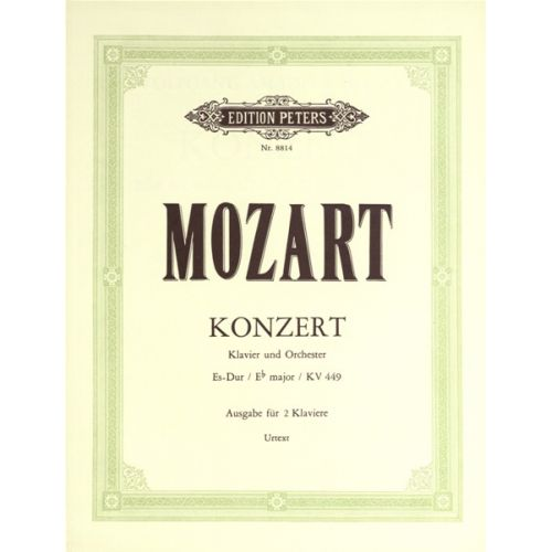 EDITION PETERS MOZART WOLFGANG AMADEUS - PIANO CONCERTO NO 14 IN EB K449 - 2 PIANO 4 HANDS