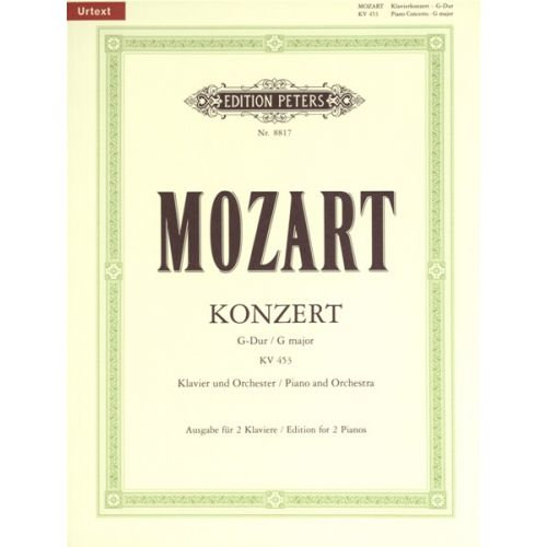 EDITION PETERS MOZART WOLFGANG AMADEUS - CONCERTO NO.17 IN G K453 - PIANO 4 HANDS