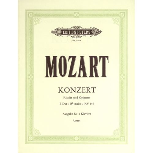 EDITION PETERS MOZART WOLFGANG AMADEUS - PIANO CONCERTO NO 18 IN BB K456 - PIANO 4 HANDS