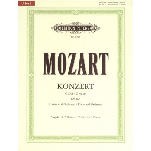 EDITION PETERS MOZART WOLFGANG AMADEUS - CONCERTO NO.21 IN C K467 - PIANO 4 HANDS