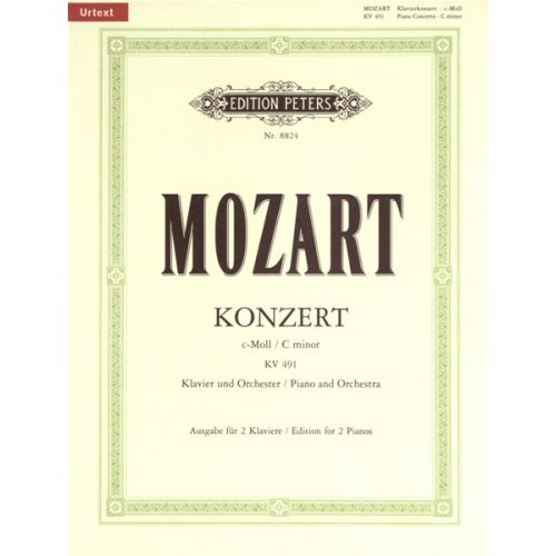 EDITION PETERS MOZART WOLFGANG AMADEUS - CONCERTO NO.24 IN C MINOR K491 - PIANO 4 HANDS