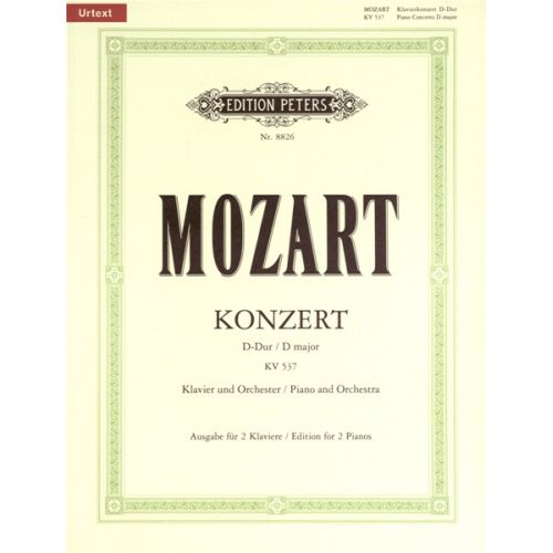 EDITION PETERS MOZART WOLFGANG AMADEUS - CONCERTO NO.26 IN D K537 'CORONATION' - PIANO 4 HANDS