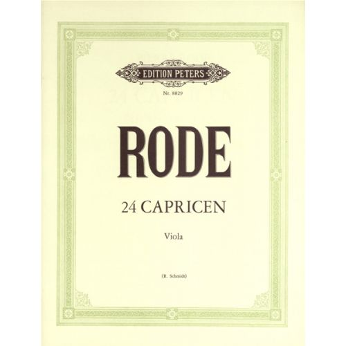 EDITION PETERS RODE PIERRE - 24 CAPRICES - VIOLA