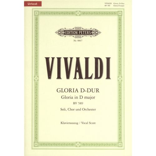 EDITION PETERS VIVALDI ANTONIO - GLORIA IN D RV 589 - MIXED CHOIR
