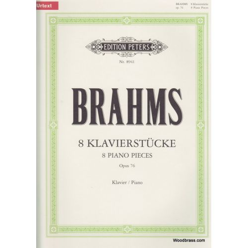 EDITION PETERS BRAHMS JOHANNES - 8 PIECES OP.76 - PIANO