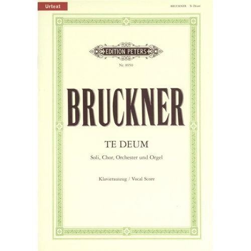 EDITION PETERS BRUCKNER ANTON - TE DEUM C - VOCAL SCORE (PER 10 MINIMUM)