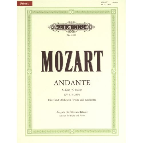 EDITION PETERS MOZART WOLFGANG AMADEUS - ANDANTE IN C K315 - FLUTE AND PIANO