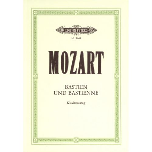 EDITION PETERS MOZART WOLFGANG AMADEUS - BASTIEN UND BASTIENNE - VOICE AND PIANO