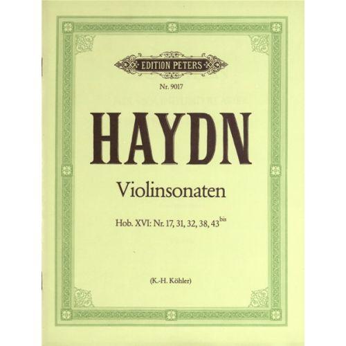 EDITION PETERS HAYDN JOSEPH - 5 SONATAS - VIOLIN AND PIANO